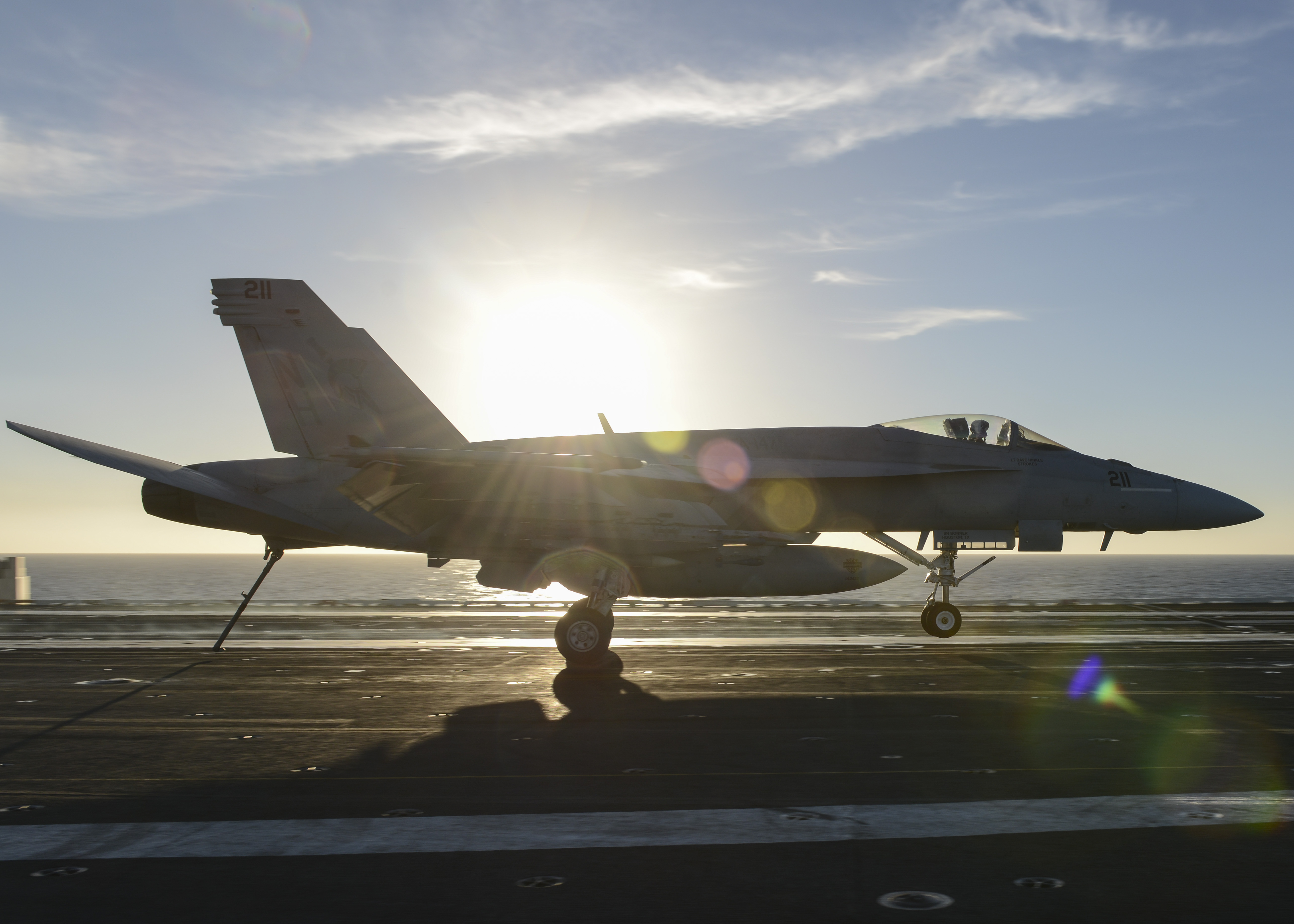 F/A-18E Super Hornet launches off flight deck