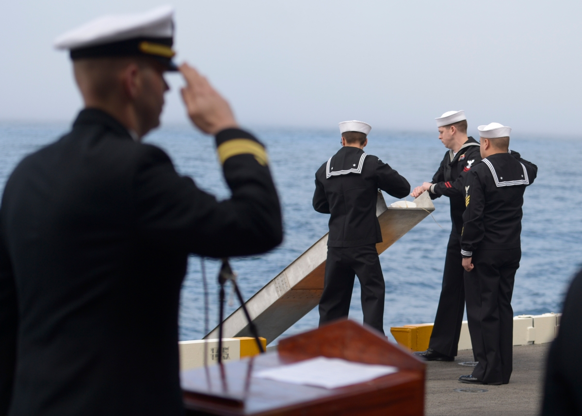 Nimitz Conducts First Burial at Sea in Over Two Years