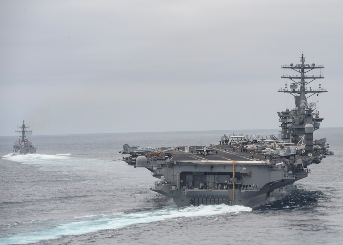 Nimitz Conducts COMPTUEX In Preparation For Deployment