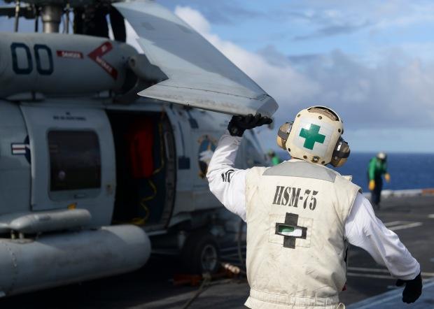 Sailors Conduct Flight Ops