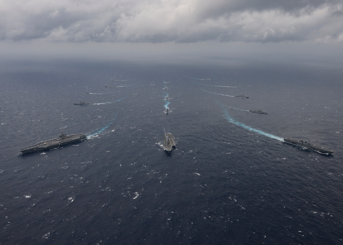 Nimitz Carrier Strike Group Concludes Malabar 2017