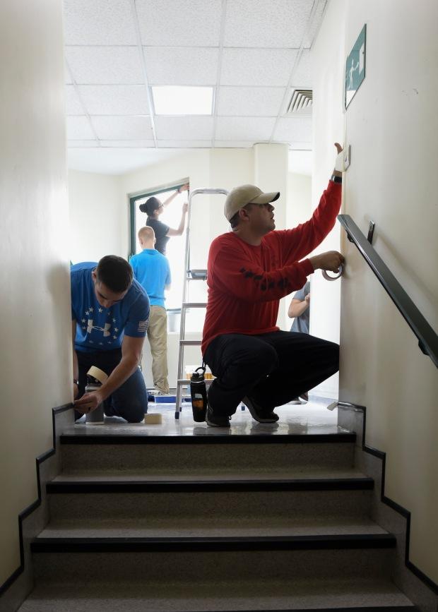 Nimitz Sailors Paint Hospital