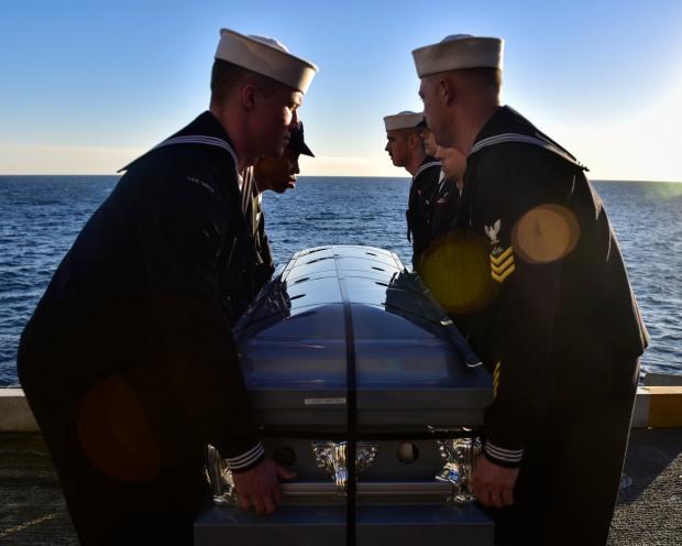 Nimitz Conducts Burial at Sea