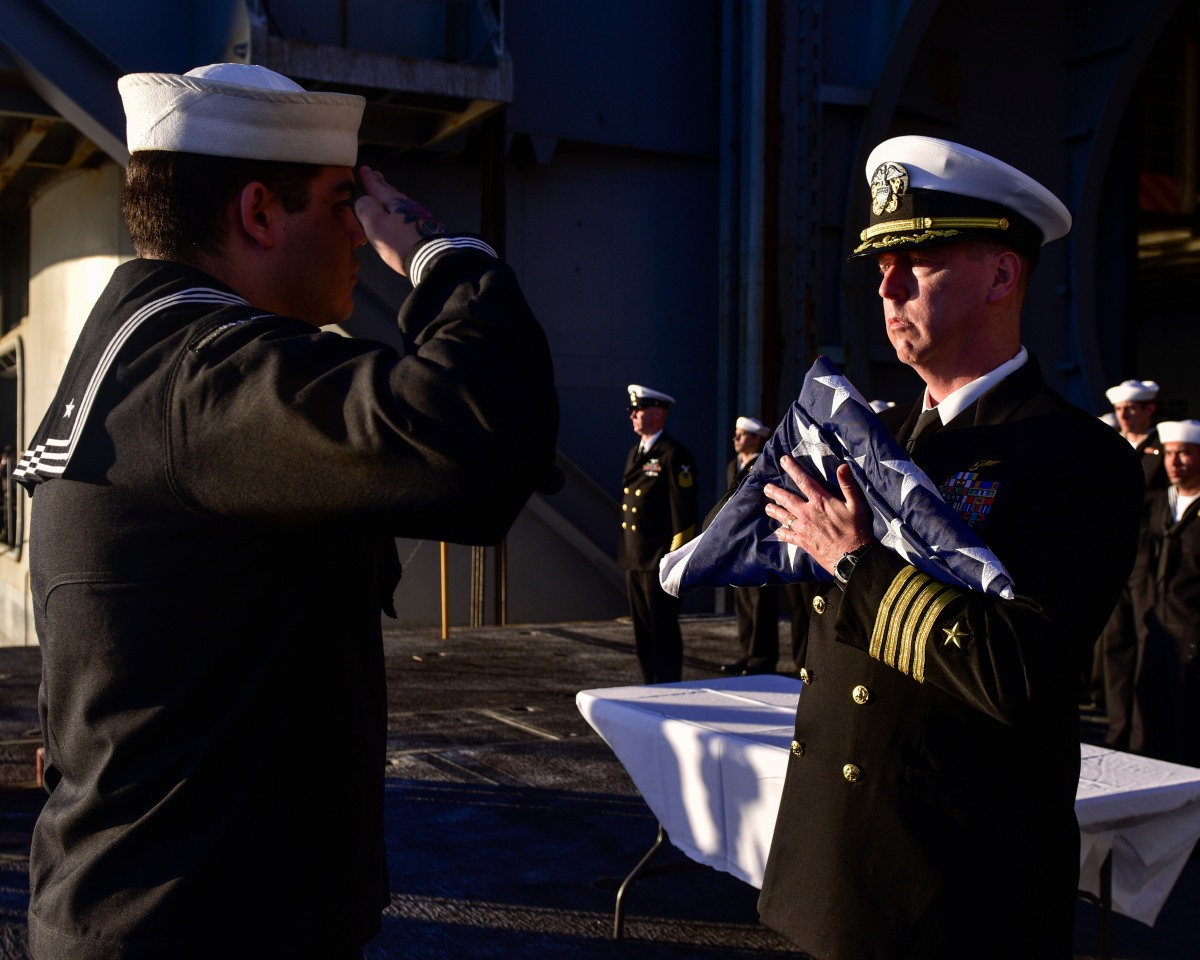 Nimitz Honors Fallen with Burial at Sea